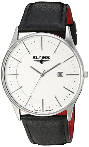 Elysee Men's 83015L Classic-Edition Analog Display Quartz Black Watch