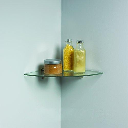 Knape & Vogt John Sterling Shelf-Made KT-0134-1212SN Glass Corner Shelf Kit, Satin Nickel, 12-Inch 12-Inch by Knape & Vogt (Image #2)
