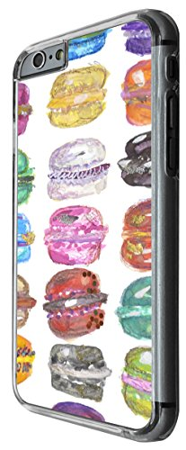 1008 - Cool fun cute macaroons illustration colouful art food lovers love Design For iphone 4 4S Fashion Trend CASE Back COVER Plastic&Thin Metal -Clear