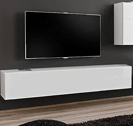 muebles bonitos – Mueble TV Modelo Berit H180 Blanco: Amazon.es ...