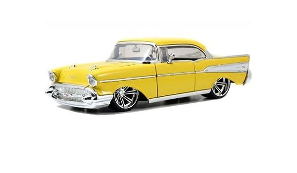 Amazon 1957 Chevrolet Bel Air Yellow 124 By Jada 90434 Toys