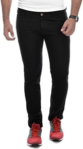 Ben Martin Men's Regular Fit Denim Jeans (BM-WDBLK-P14-32, Black)