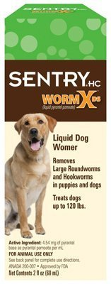 Sentry Liquid Wormer For Dogs & Puppies 2 Oz