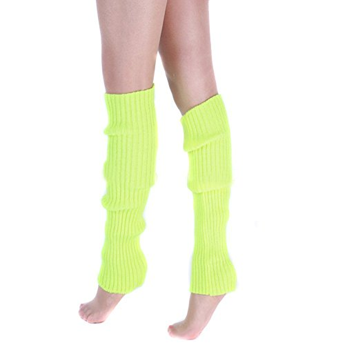 Ewandastore Candy Color Women 80s Winter Leg Warmers