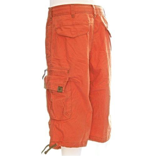 Ginocchio Cargo Eccellente Combattimento Arancione Acceso 100 Cotone Hugger Knee Da Di Pantaloncini 45056 Corti Qualità Uomo Molecule xIUOTqc