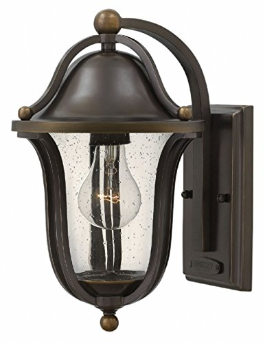 - Hinkley 2640OB Traditional One Light Wall Mount from Bolla collection in Bronze/Darkfinish,