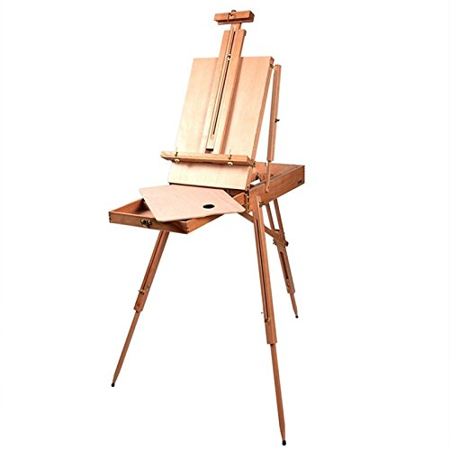 - French Easel Wood Sketch Box Portable Folding Artist Painters Tripod Christmas TKT-11