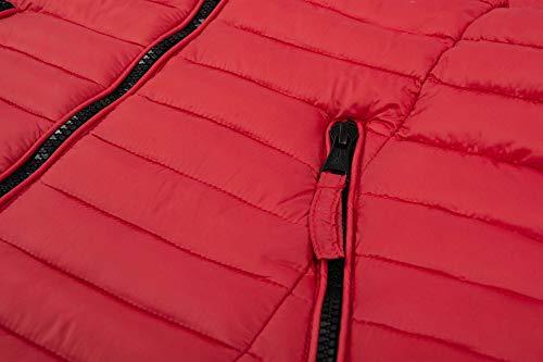 Rojo acolchada Chaqueta Navahoo mujer para con B348 capucha SUnwq
