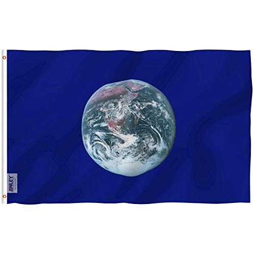 Anley Fly Breeze 3x5 Foot Earth Day Flag - Vivid Color and UV Fade Resistant - Canvas Header and Double Stitched - Environmental Awareness Flags Polyester with Brass Grommets 3 X 5 Ft -