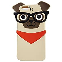 iPhone SE Case, Anya 3D Cute Lovely Cartoon Animal Series Style Soft Rubber Silicone Back Shell Case Cover for iPhone 5 5S 5C SE Dog