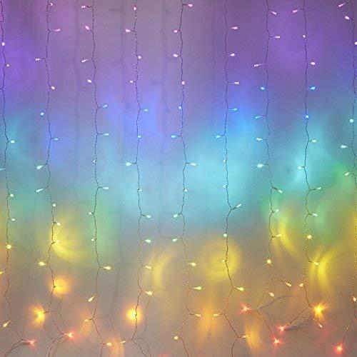 Fefelightup Rainbow Curtain Lights Fairy Lights Icicle Lights Fantasy Unicorn Rainbow