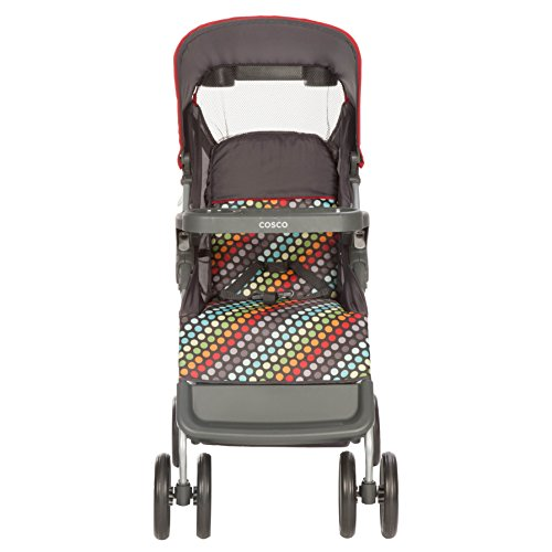 Cosco Lift & Stroll Convenience Stroller in Rainbow Dots