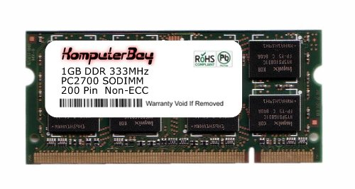 Komputerbay 1GB DDR SODIMM (200 pin) 333Mhz DDR333 PC2700 FOR Apple Mac Memory PowerBook G4 1GHz 15\ Combo Drive (M8980LL/A) 101