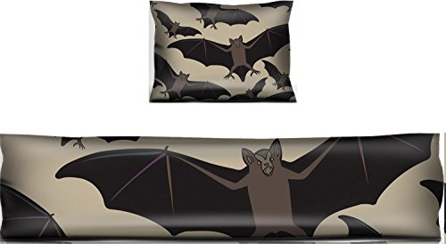 Luxlady Mouse Wrist Rest and Keyboard Pad Set, 2pc Wrist Support ID: 44881718 Vector seamless halloween pattern with bat Repeating abstract background]()