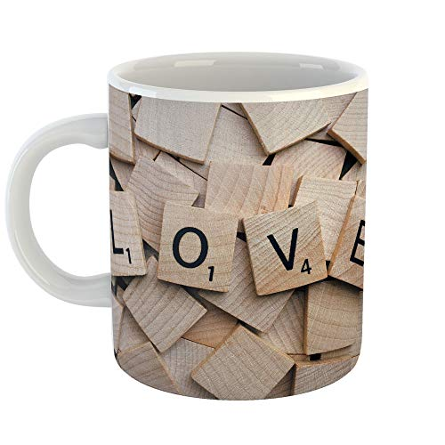 Westlake Art   Wood Scrabble   11Oz Coffee Cup Mug   Modern Picture Photography Artwork Home Office Birthday Gift   11 Ounce  D41d8