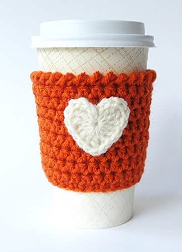 Coffee Sleeve Pumpkin Spice Latte Heart Applique