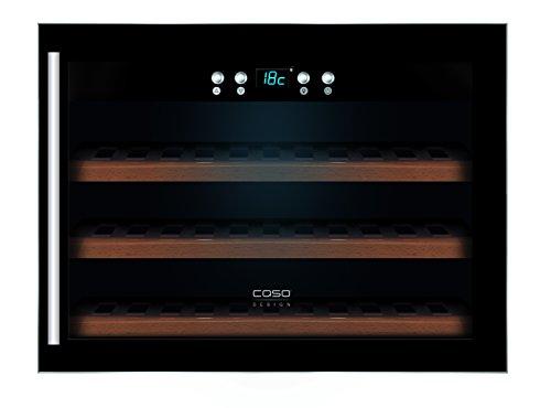 CASO WineSafe 18 EB Design Einbauweinkühlschrank für bis zu 18 Flaschen (bis zu 310 mm Höhe), eine Temperaturzone 5-22°C, Energieklasse A