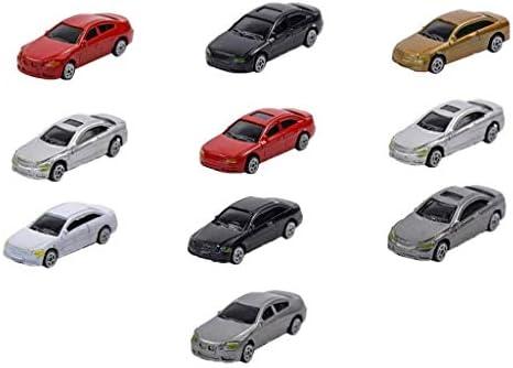 sharprepublic 約10個 モデルカー 1/75 車模型 塗装車 HOゲージ 駐車場 建物鉄道風景 建築模型 DIY