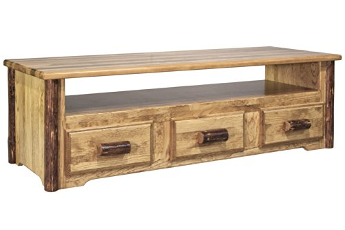 Center Finished (Montana Woodworks MWGCSCEC Glacier Country Sitting Chest/Entertainment Center)