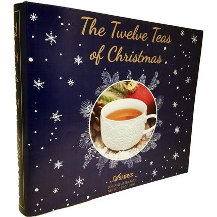 The 12 Coffees, Teas or Cocoas of Christmas (Your Choice) Gourmet Gift Box Set - Best Xmas Present For Friends, Family, Coworkers, or Teachers (Tea) (Christmas Sets Uk Tea)