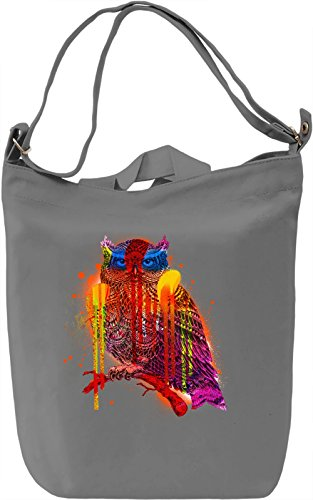 Graffiti Owl Borsa Giornaliera Canvas Canvas Day Bag| 100% Premium Cotton Canvas| DTG Printing|