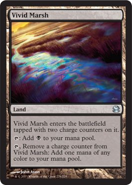 Magic: the Gathering - Vivid Marsh - Modern Masters - Foil