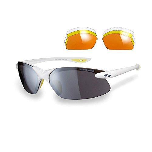 Interchangable Sunwise Gafas Windrush Blanco Negro De Sol 5n6xn