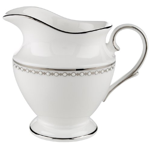 Lenox Pearl Platinum Bone China Creamer - China Pearl China Creamer