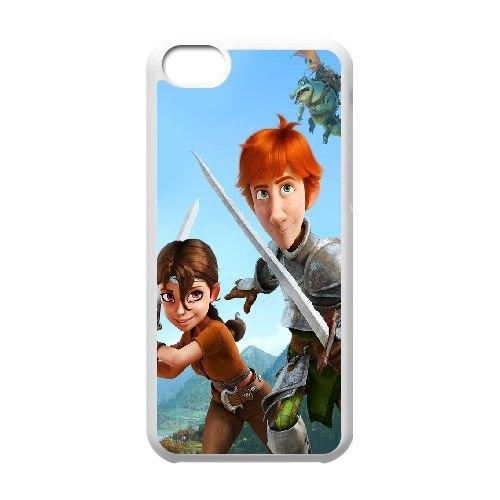 Q4S45 justin et Talia justin et les chevaliers vaillants R6W3WC cas d'coque iPhone de téléphone cellulaire 5c couvercle coque blanche KU8UVUIT
