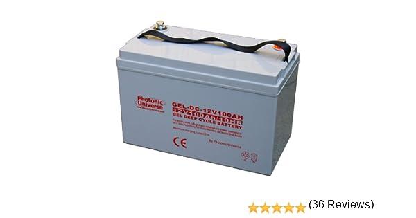 Batería de ciclo profundo para caravana, barco, sistema de energía solar o eólica o abastecimiento de emergencia (gel, 100 Ah): Amazon.es: Electrónica