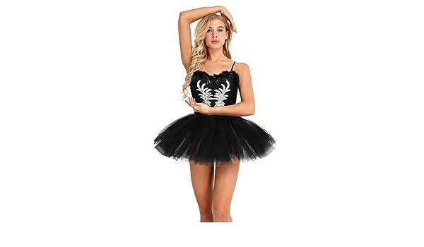 CHICTRY Vestido Tutú de Ballet Mujer Adultas Disfraz de Princesa ...