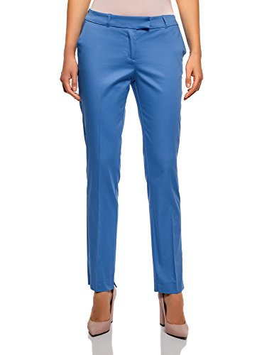 Pantaloni Cotone Elasticizzato Blu in 7500n Collection Donna oodji SpxBEZS