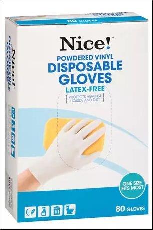 素敵。 使い捨て パウダービニール手袋 ホワイト 各80.0枚(2枚パック)   B073ZDH1C8