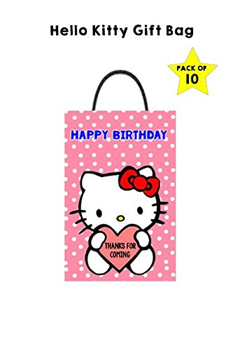 WoW Party Studio Hello Kitty Theme Birthday Return Gift Bag Goodie Pack Of 10 Amazonin Toys Games