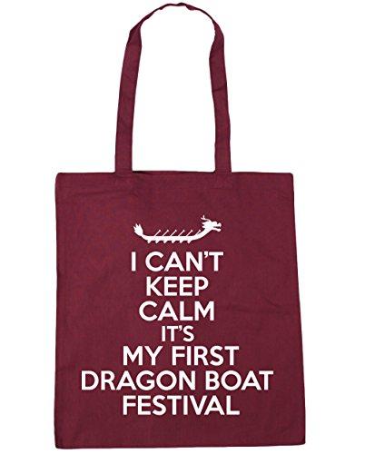 Dragon Mantener nbsp;cm De X38 nbsp;cm Bolsa Hippowarehouse Mi Playa Es Boat Compras No Puedo nbsp;litros La Primera Festival 42 Calma Tote Granate 10 E6H8qF