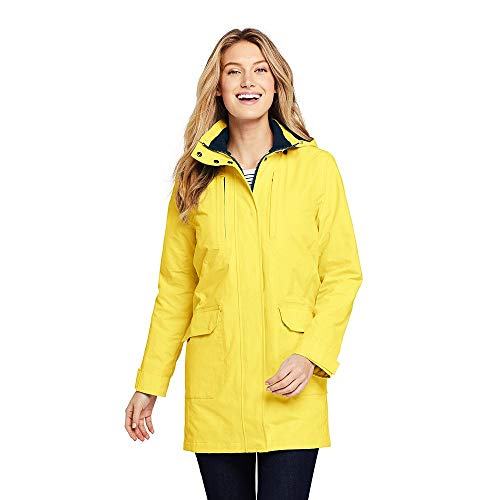 (Lands' End Women's Lightweight Squall Raincoat, M, Pale Pineapple)