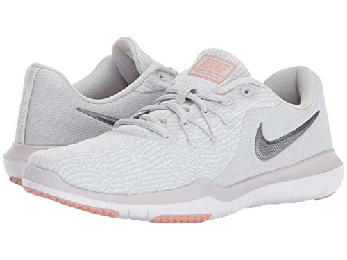 Nike Womens Flex Supreme Tr 6 Top Sneakers Basse Allacciate Basse Grigio / Argento Metallizzato