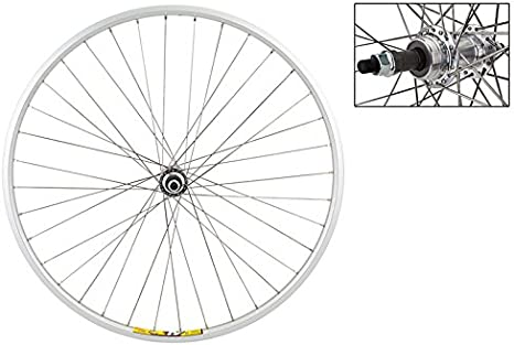 700c wheelsON FRONT WHEEL Quick Release Rim Brake Double wall Black//Silver 36H