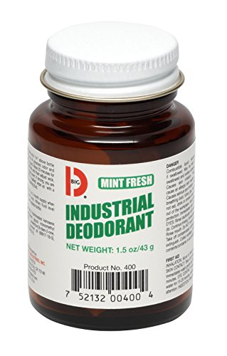 - Big D 400 Industrial Deodorant, Mint Fresh Fragrance, 1.5 oz (Pack of 12) - Lasts up to 45 days - Wick air freshener ideal for restrooms, patient care, smoking areas, musty rooms