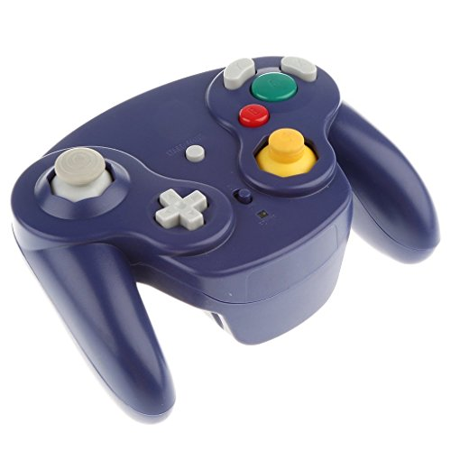 Wireless 2.4Ghz Controller Gamepad For Nintendo GameCube And Nintendo Wii (Indigo)
