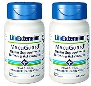 Life Extension Macuguard Ocular Support Plus Saffron & Astaxanthin, 60 softgels (2 ()