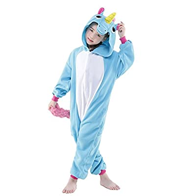 NEWCOSPLAY Unisex Kids New Unicorn Costume One-Piece Pajamas: Clothing