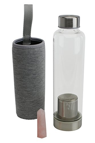 Gemstone Water Bottle Ð 20 oz Gemwater Bottle for Making Crystal Elixir