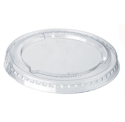 PacknWood Clear Plastic Lid for 2 oz Capacity Sugarcane Portion Cup (Case of 2500) by PacknWood