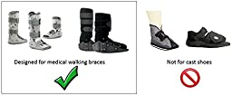 My Recovers Walking Boot Cover for Fracture Boot, Fashion Cover in Black White Houndstooth, Short Boot, Made in USA, Orthopedic Products Accessories (Small)