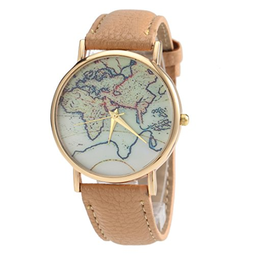 Aivtalk-Womens-Leather-Watch-Brand-Leather-Strap-Retro-World-Map-Quartz-Wrist-Watch-Beige