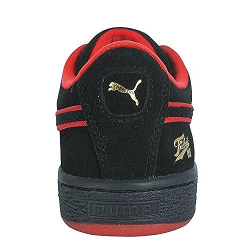 save off 1072a 0e711 PUMA 367438-01 Preschool Suede Classic FUBU BHM PS Black ...