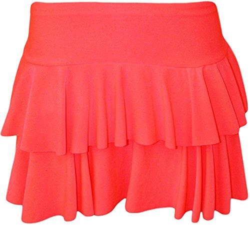 vas Mini GirlzWalk Rose Non Beau Mesdames Fridge Jupe RaRa Femmes Skort Hot courte Layered Stretch BqYIqR
