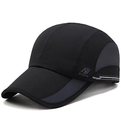 Mens Quick Dry Hats Lightweight Sun Caps for Running/Golf/Baseball