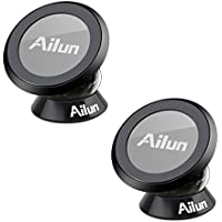 Magnetic Car Mount Holder,by Ailun[2Pack] Stylish 360°Rotation Magnet Phone Holder for iPhone X/8/8+7/6/6s and more other Smartphone,GPS,Dashboard Mount,Sticks on Any Flat Surface[Black]